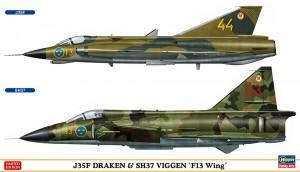 02281 J35F DRAKEN&SH37 VIGGEN_ol